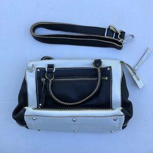 Roots leather satchel purse